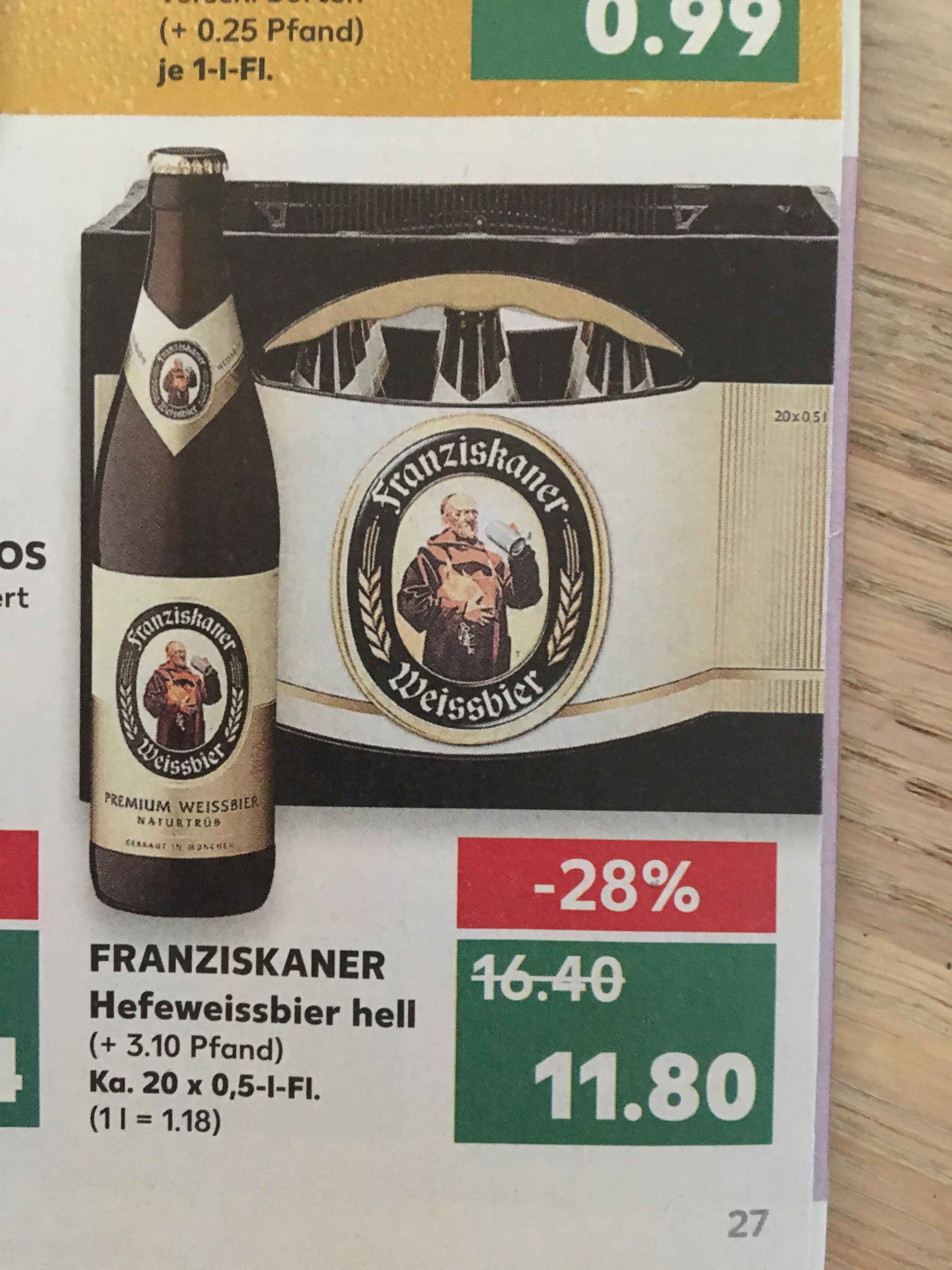 Kaufland Franziskaner Hefeweissbier hell 11,80€ Lokal?