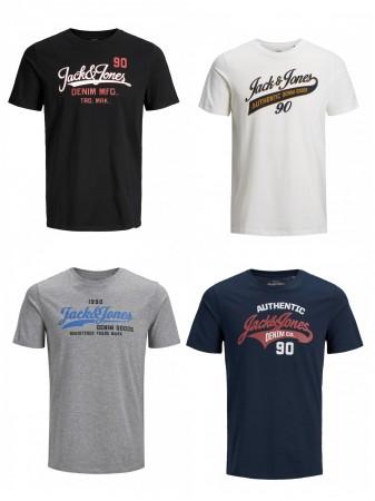 """30% Rabatt auf alle T-Shirts ohne MBW, z.B. 4er Pack Jack & Jones Herren T-Shirts """"JJELOGO"""" in 4 Ausführungen für 25,95€ statt 44€"""