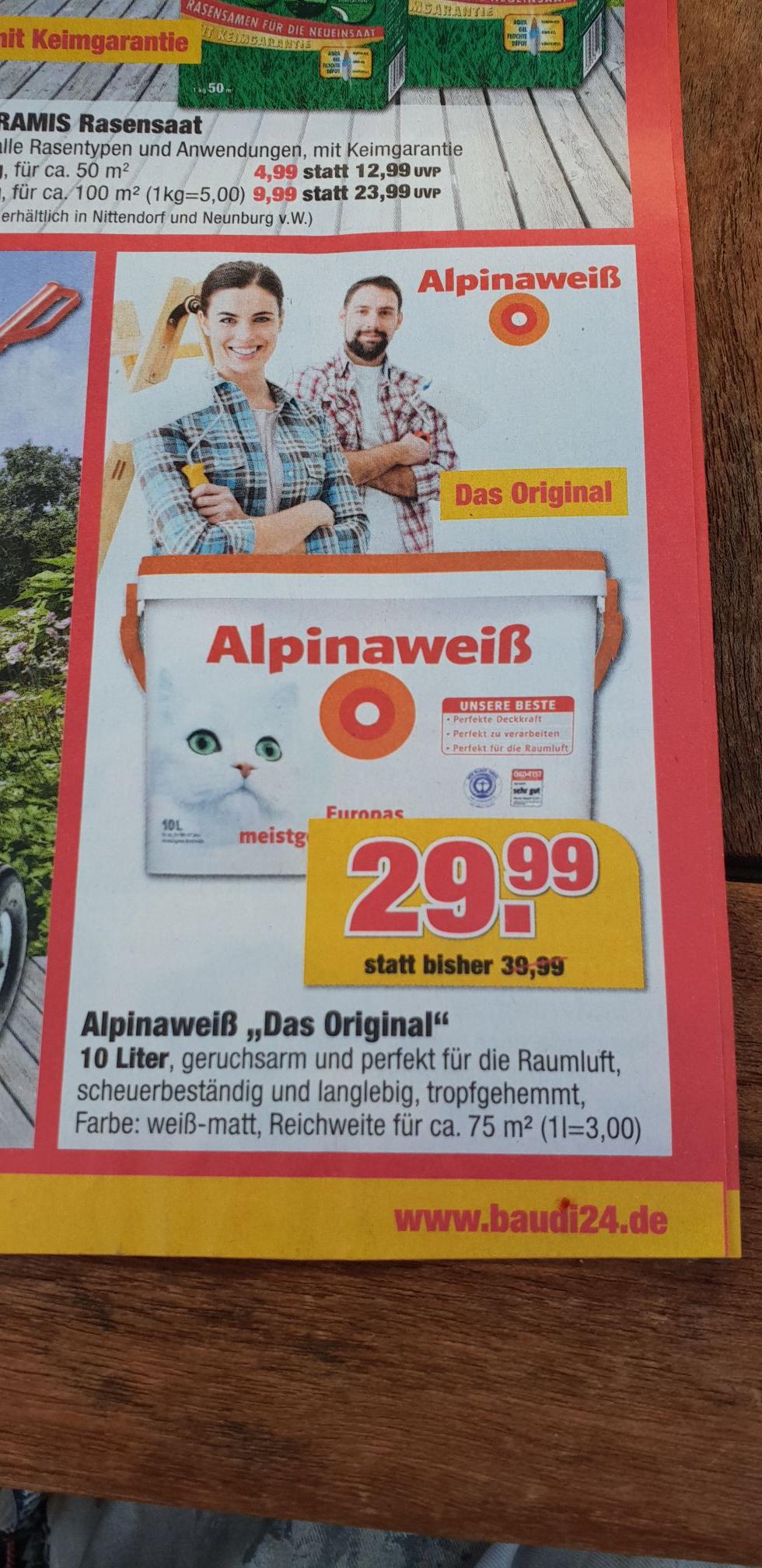 Alpinaweiß  [Lokal BAUDI Boostedt]