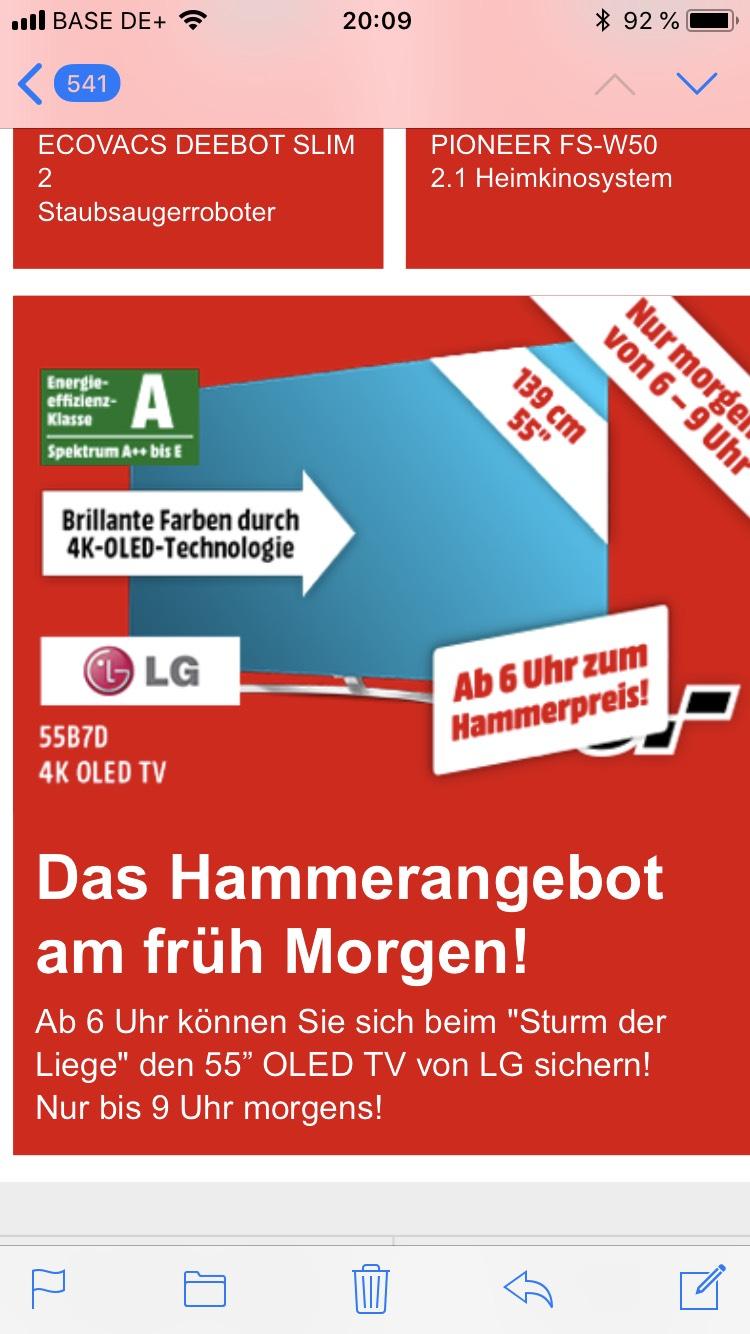 LG 55B7D online bei MM ab morgen früh