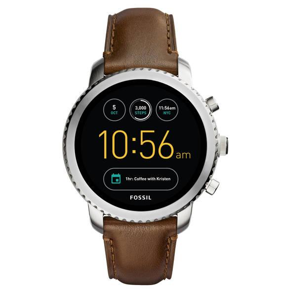 Fossil Q Explorist 3.Gen. Herren Smartwatch Leder Braun FTW4003 | Leder blau FTW4002 | Edelstahl FTW4000