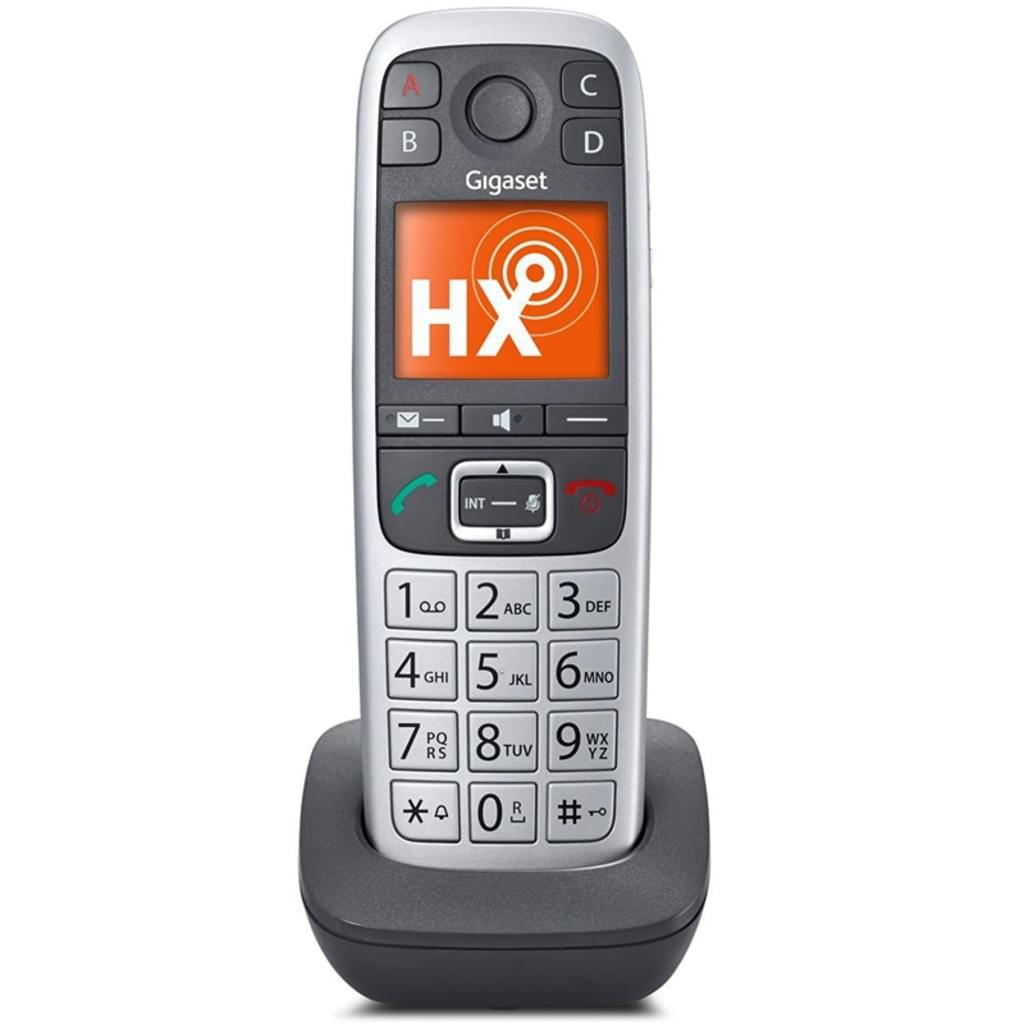 [real] Gigaset E560HX Schnurlostelefon, Farbdisplay, Rufnummernanzeige, Freisprechfunktion, DECT, Erweiterungshandgerät Mobilteil, Platin