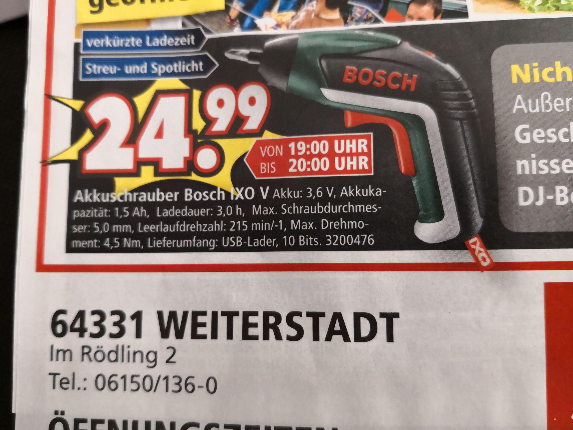 Bosch IXO V Akkuschrauber, nur am 04.08 Segmüller Weiterstadt