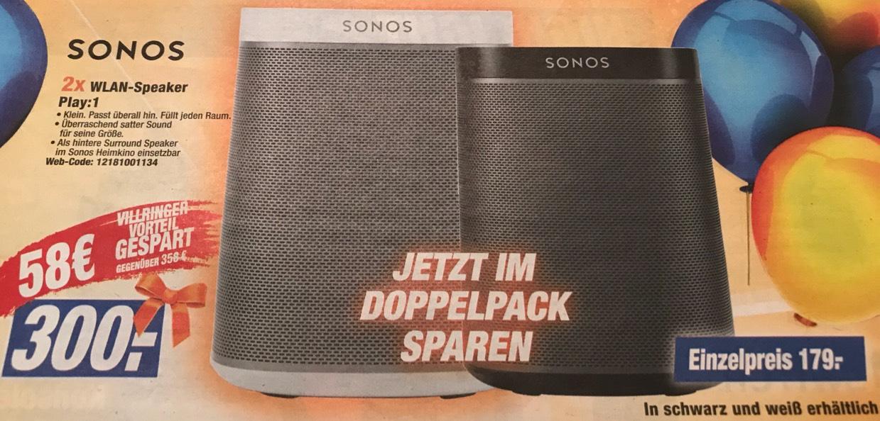 (Lokal Lkr. LÖ/WT) 2x SONOS Play:1 bei Expert Villringer
