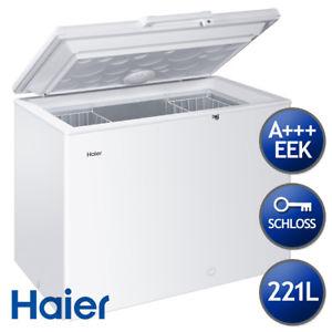 Haier HCE221T Weiß Gefriertruhe, A+++, 221 Liter