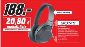 [Regional Mediamarkt Recklinghausen] Sony Kabelloser High-Resolution WH-1000XM2 Kopfhörer (Noise Cancelling, Bluetooth, NFC, Headphones Connect App, bis zu 30 Stunden Akkulaufzeit in Schwarz für 188,-€