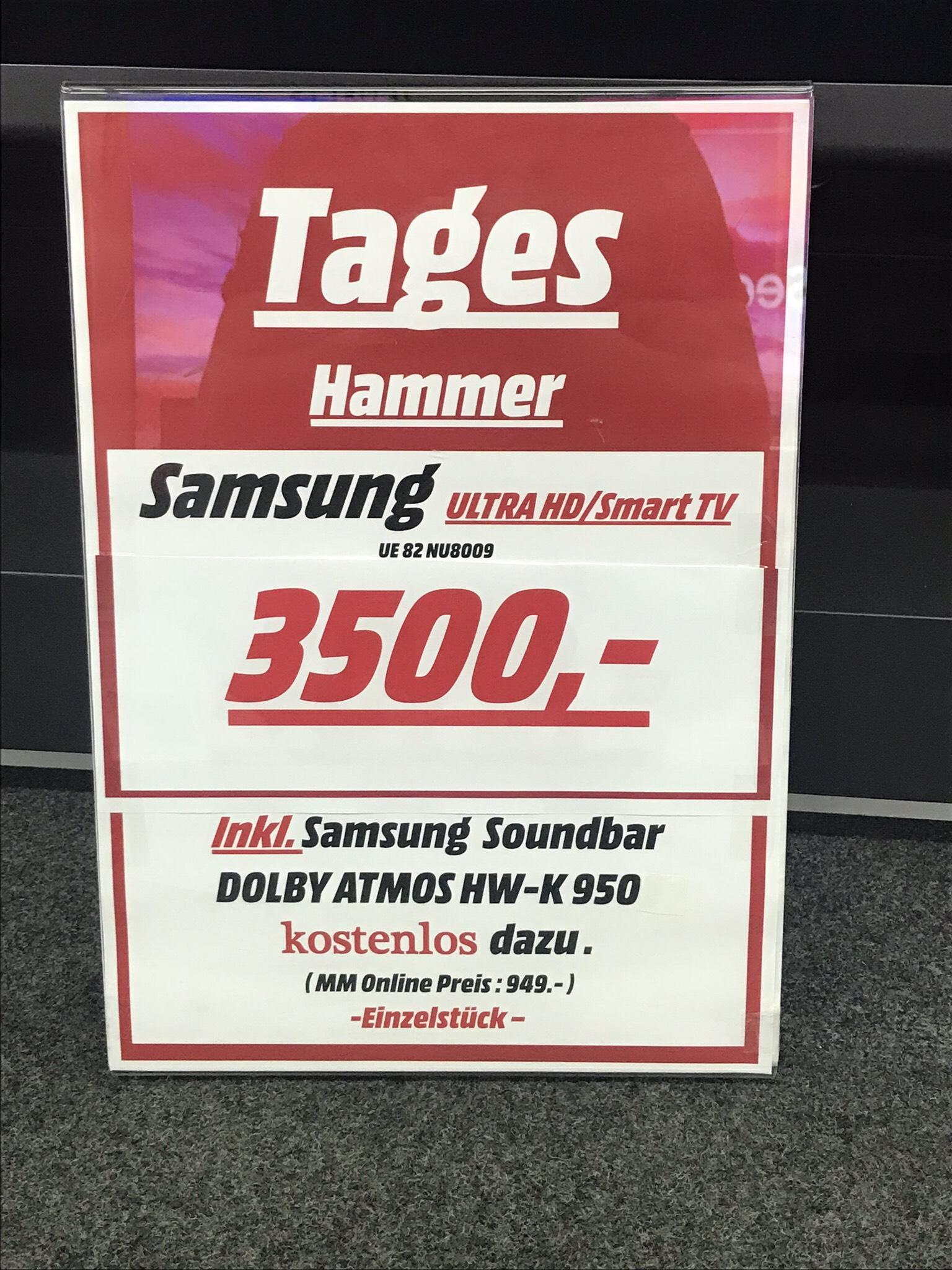 Samsung UE 82 NU 8009 inkl. Samsung HW–K 950 Dolby Atmos Soundbar [LOKAL MEDIA MARKT STUTTGART FEUERBACH]