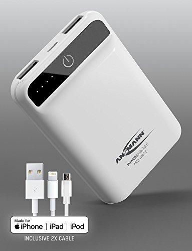 ANSMANN Powerbank mit 10.000mAh + MFI Lightning Kabel und TÜV geprüft für 16,99 €
