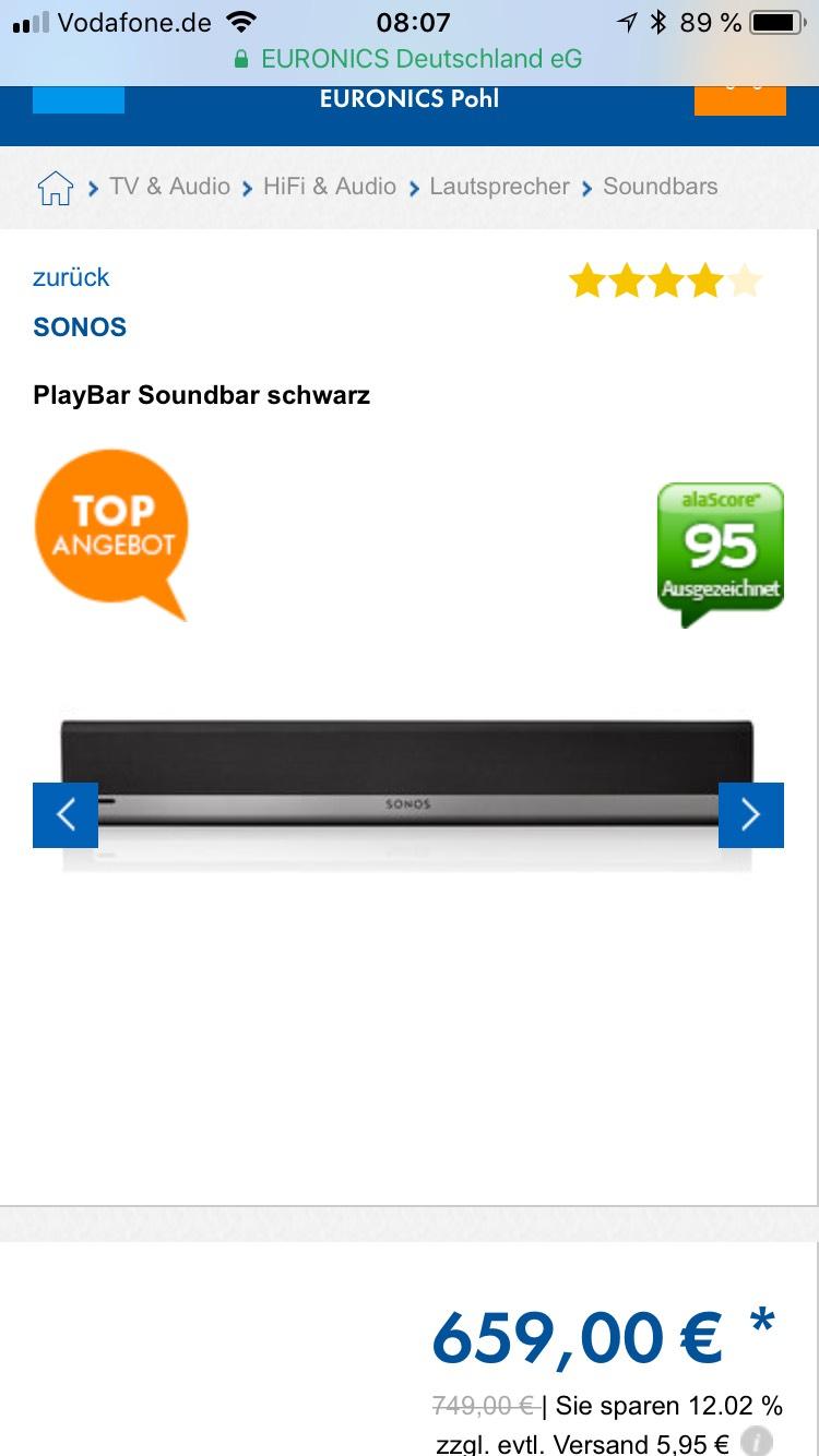 Online und Lokal Brühl, Euronics Sonos Playbar und Sonos Play 5