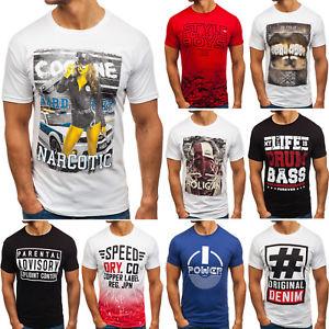 Bolf Herren T-Shirt 100% Baumwolle über 20 Designs