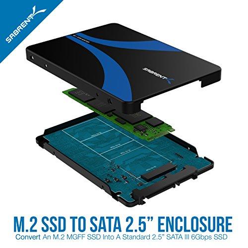 [Amazon Blitzangebot] Sabrent M.2 SSD bis 2,5-Zoll SATA III Aluminium-Gehäuse-Adapter