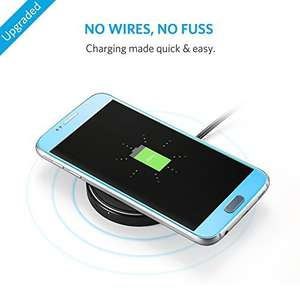 [Amazon Blitzangebot] Anker PowerPort Wireless Charger Wireless Ladegerät Induktive Ladestation für iPhone 8/8 Plus, iPhone X, Samsung Galaxy S9/S8/S8 Plus/S8+/S7/S7 Edge/S6/S6 Edge, Nexus 7/6, HTC 8X, LG G3 usw.