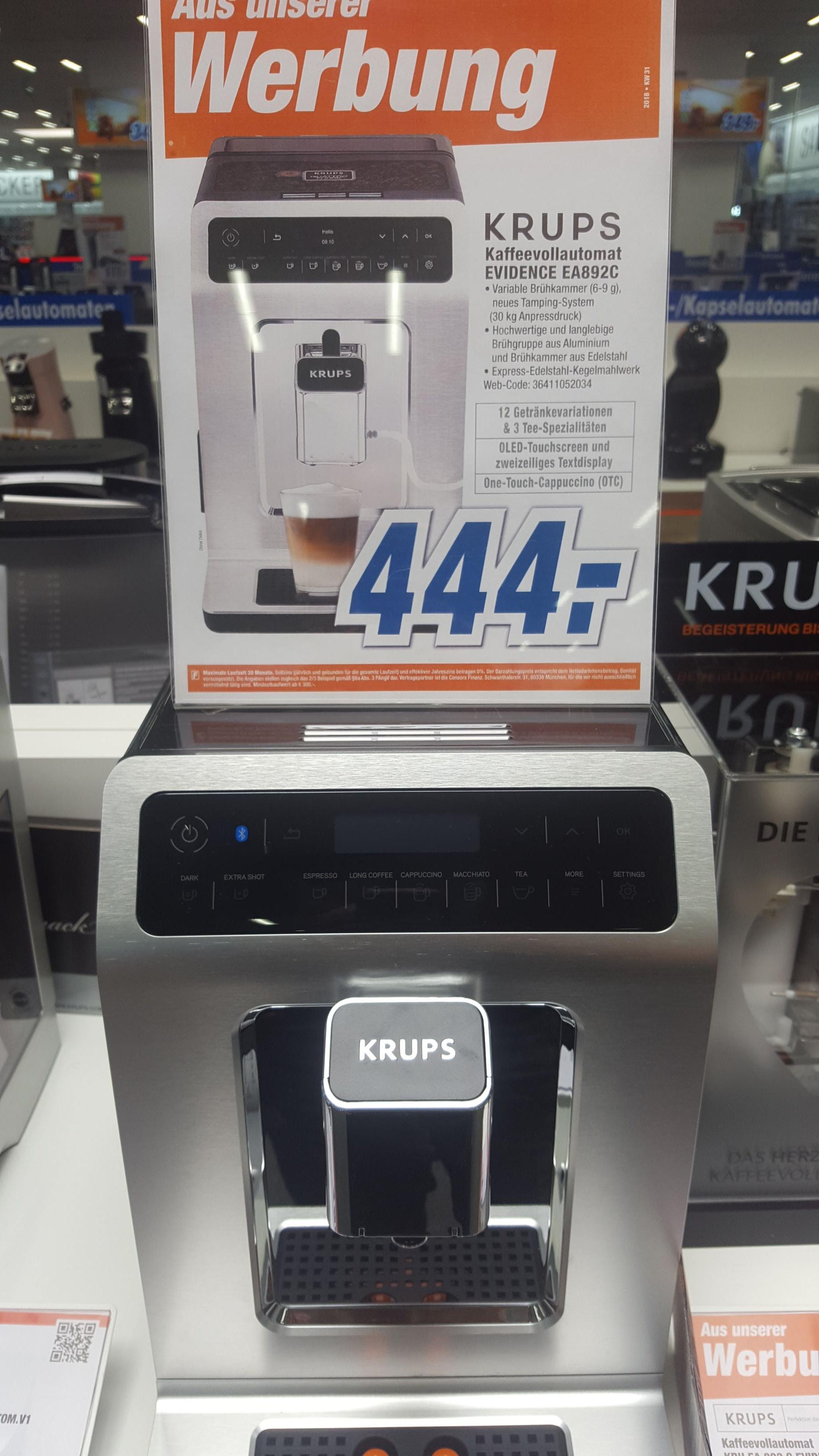 [Lokal Neuss] Krups Evidence EA892C Kaffeevollautomat
