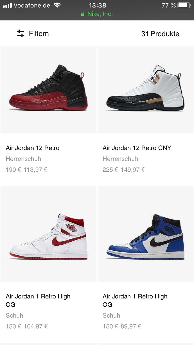 Nike Jordan Restock 40% Reduziert