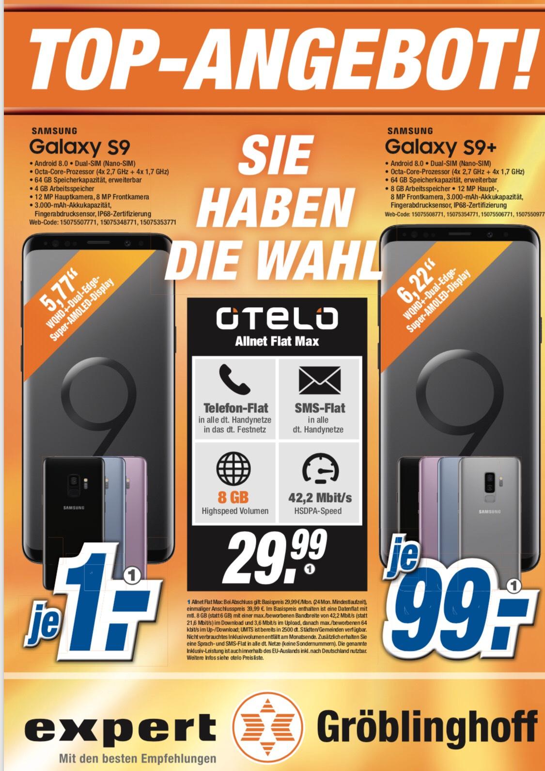 [Lokal Expert Dormagen] Galaxy S9 mit Otelo Vertrag