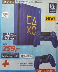 "[real] PlayStation 4 500GB ""Days of Play"" Limited Edition mit 2 Controllern"