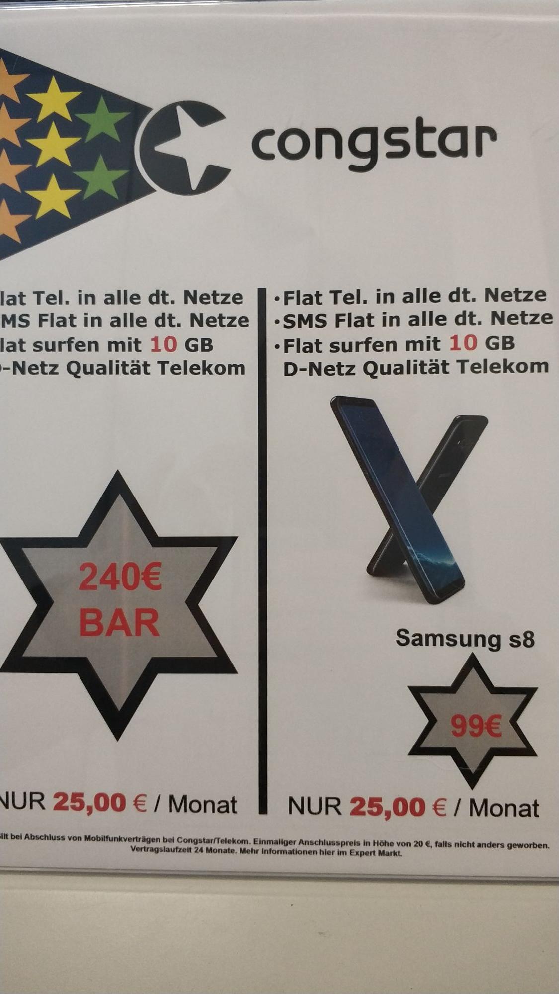 Congstar Allnet/SMS Flat inkl 10GB Highspeed ab effektiv 15,83€ monatlich bei Expert Gröblinghoff