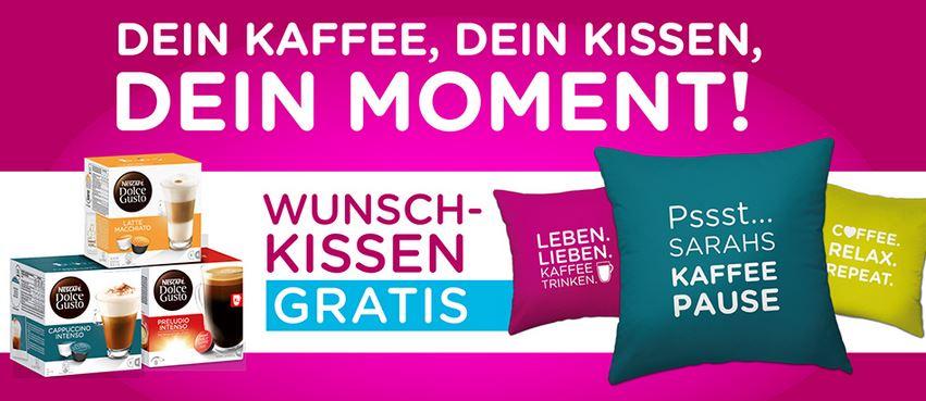 Kaufland - Dolce Gusto Kapseln 3,49€ bis 08.08. + personalisiertes Kissen gratis