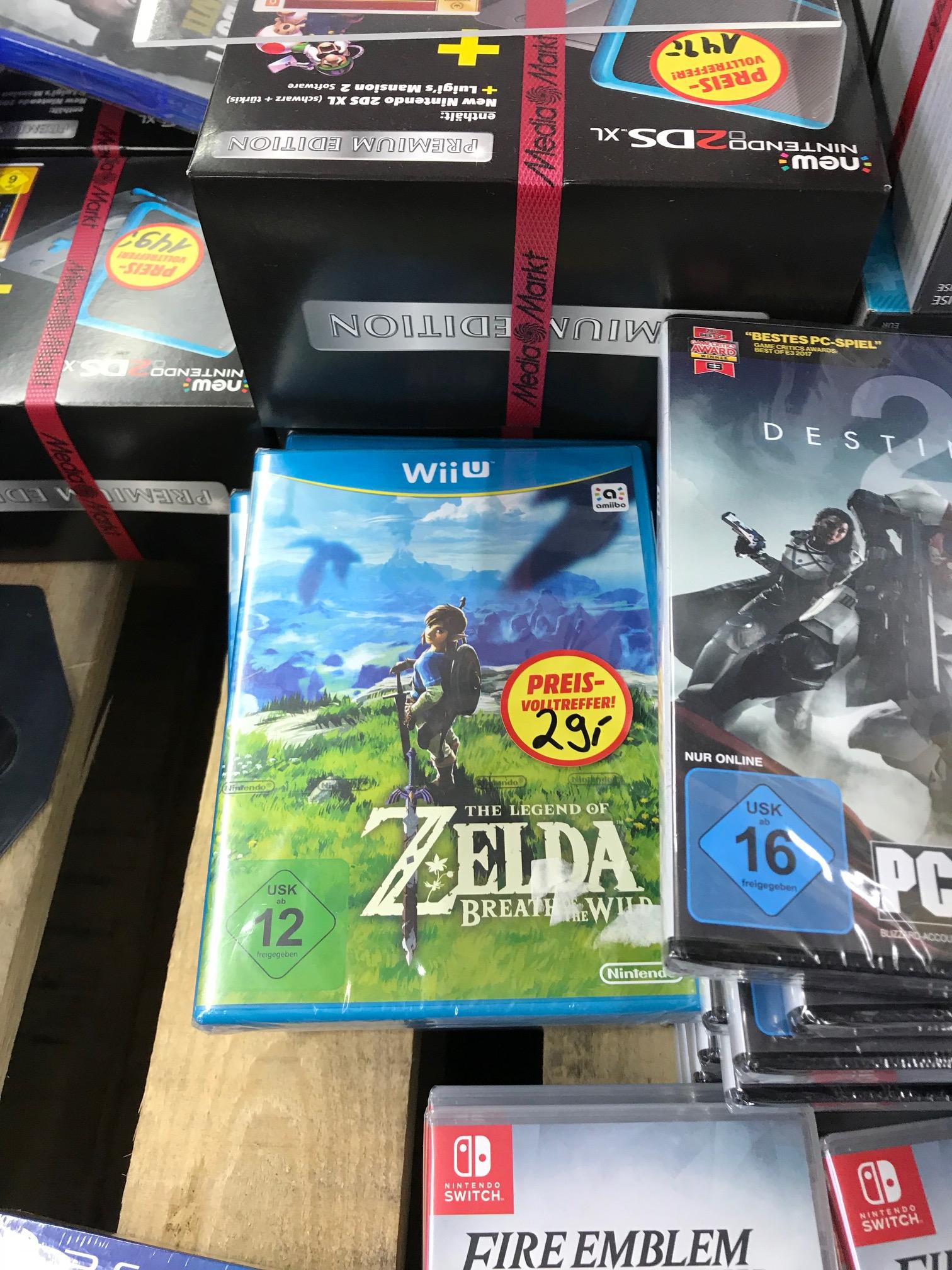Zelda breath of the wild Wii U für 29€  (Lokal Oldenburg Mediamarkt)