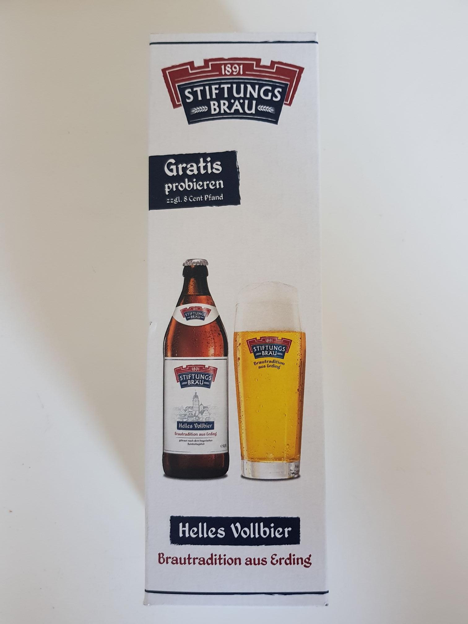 [Lokal Bocholt Dursty] Freibier! Gratis 1 Flasche Stiftungsbräu zzgl. 8 Cent Pfand