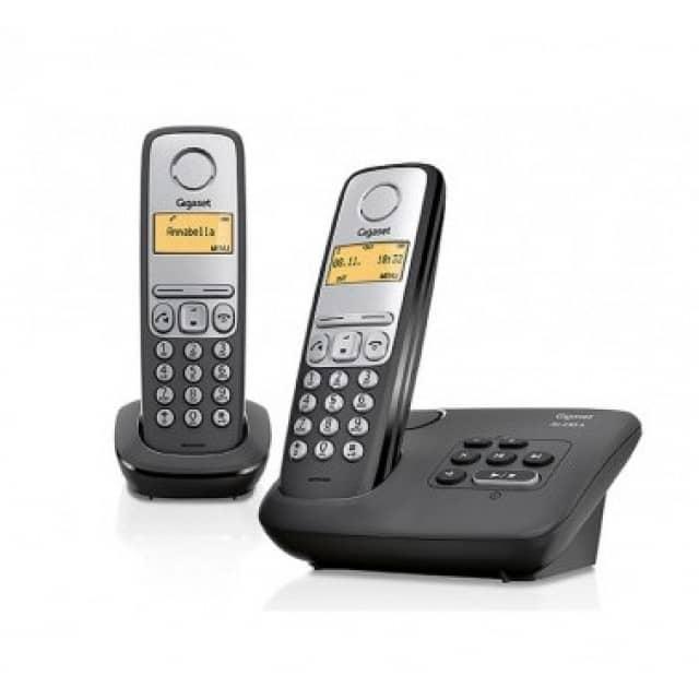 Gigaset AL230A Duo Set schnurloses DECT Telefon mit Anrufbeantworter, 2 Mobilteile
