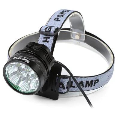 """Kopflampe, Fahrradlampe inkl. 6er Akkupack """"Marsing 8.4V 3 Modes 7 Cree XML T6 LED"""""""