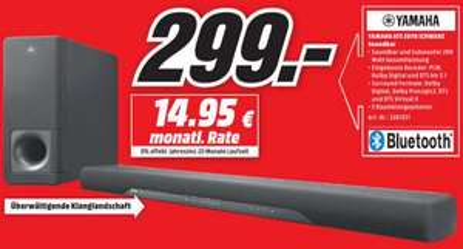[LOKAL] MediaMarkt Bad Kreuznach - Soundbar Yamaha ATS-2070