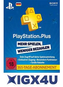 [Ebay] PlayStation Plus Live Card PSN Network 365 Tage 1 Jahr DE Store PS+