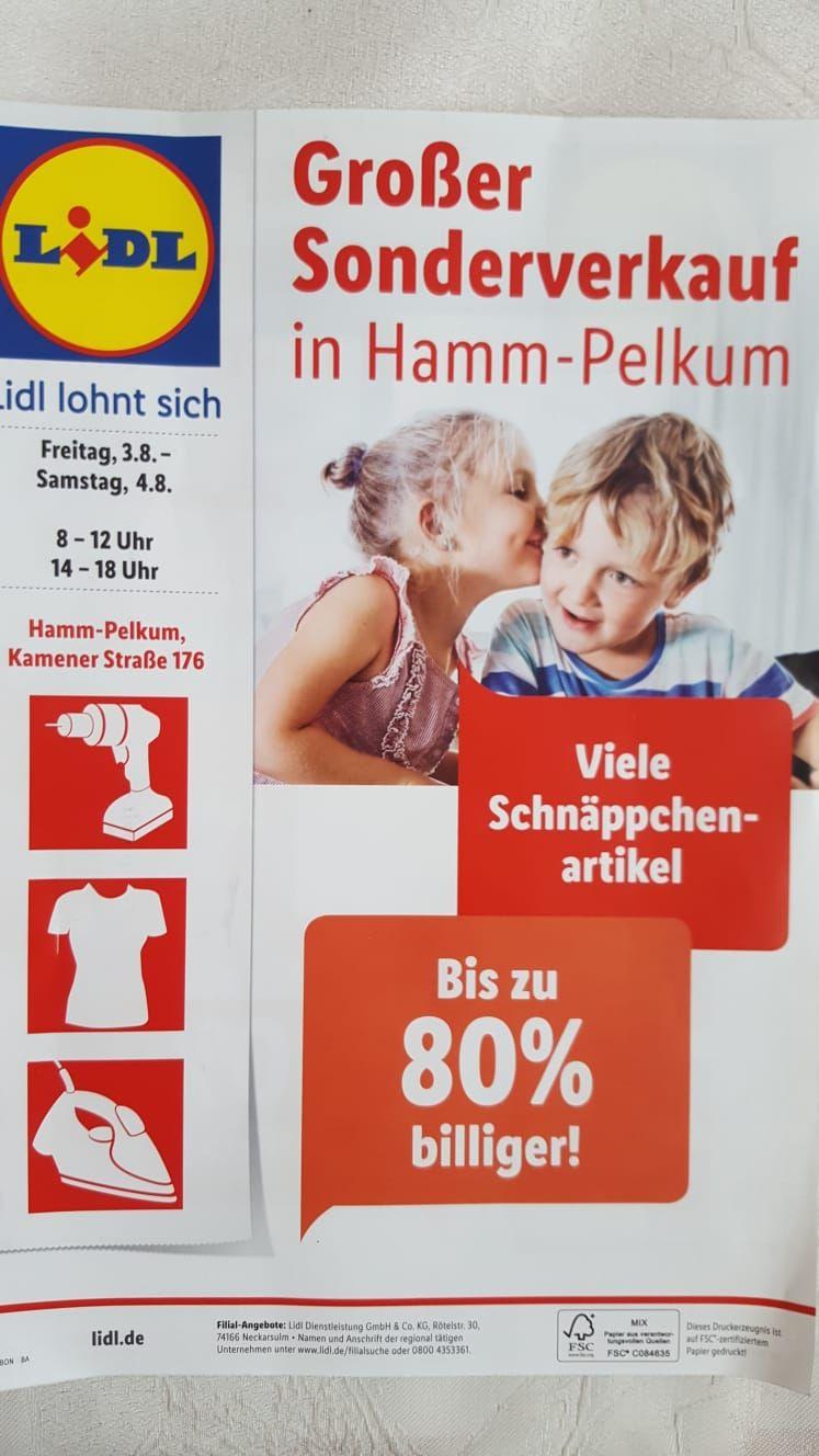 (lokal Hamm Pelkum) Lidl Sonderpostenverkauf
