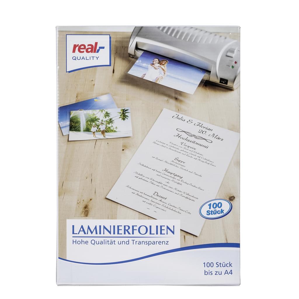 Laminierfolien A4 80 mic 100 Stück für 4,97€ [Real]