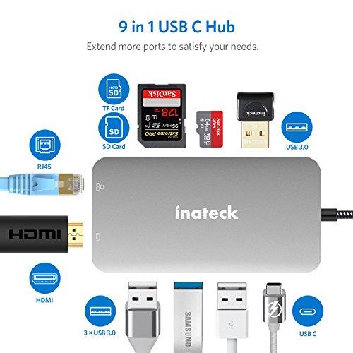 [Prime] Inateck USB C 9 Ports Aluminium Hub