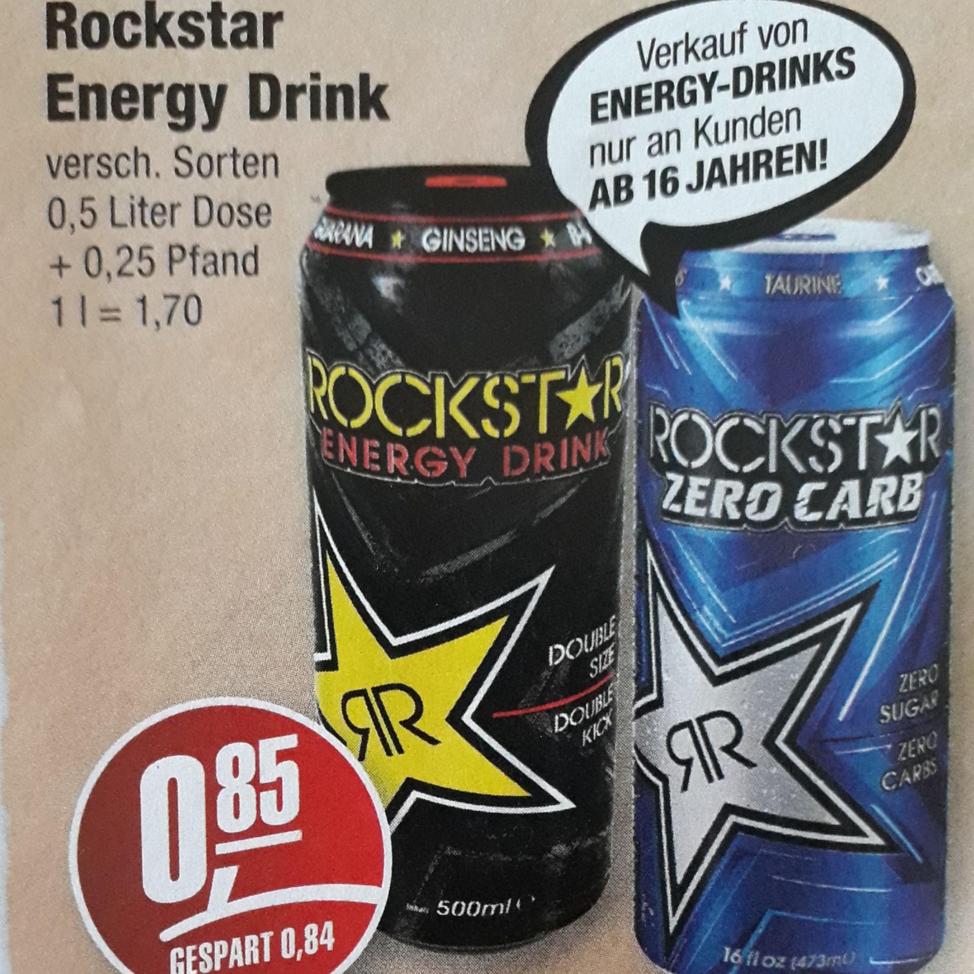 [Lokal Aue]Edeka Simmel - Rockstar Energy Drink nur 0,85€ statt 1,69€ + 0,25€ Pfand