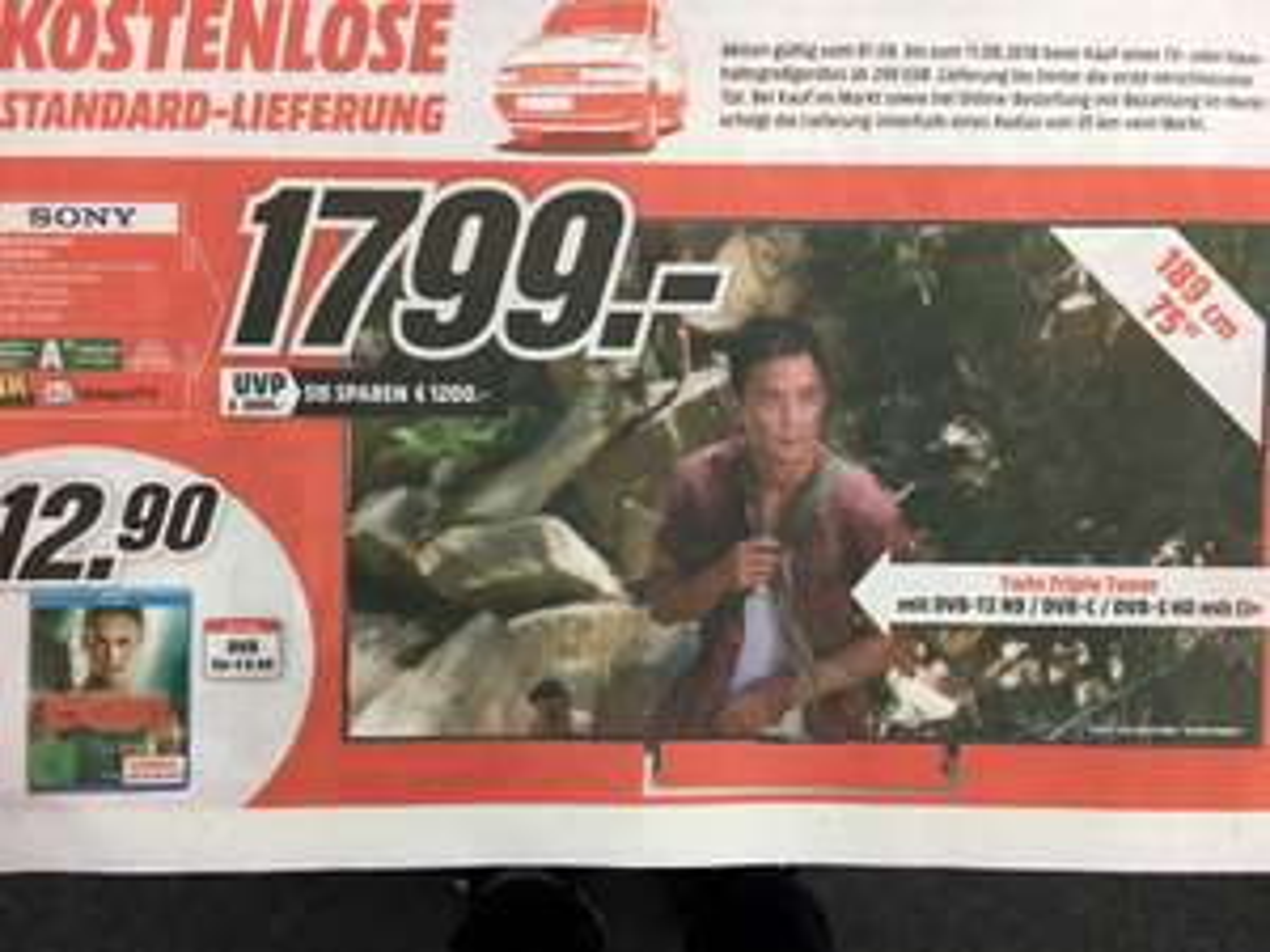 Sony 75 Zoll XE8596 lokal München Pasing Mediamarkt gratis Lieferung