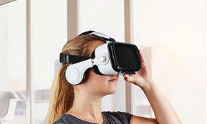 3D Virtual Reality Brille inkl. Kopfhörern