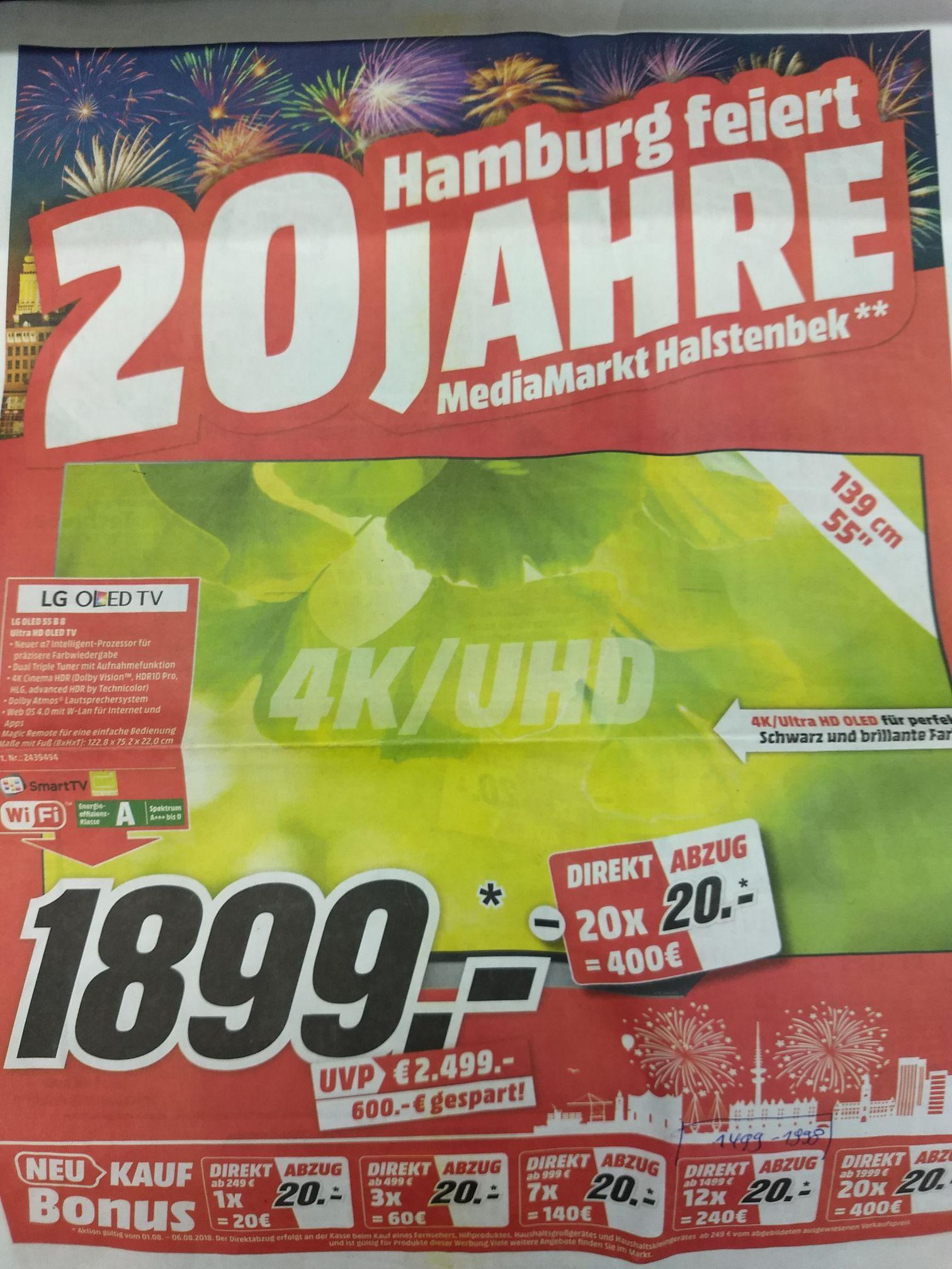 LG OLED 55 B 8 Lokal MM Hamburg Direktabzug