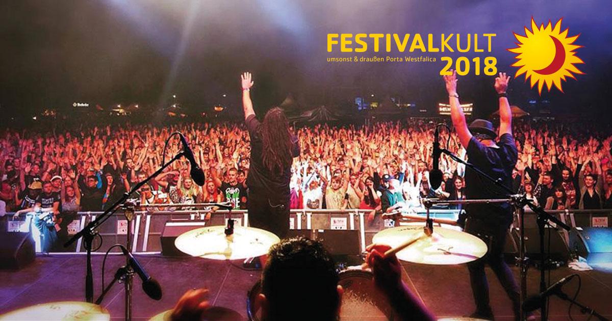 Festivalkult umsonst & draussen Porta Westfalica 03.08.2018 bis: 05.08.2018
