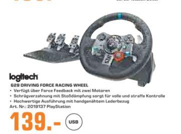 [Regional Saturn Sankt Augustin/Siegburg,Hennef,Troisdorf ab 04.08] Logitech G29 Racing Lenkrad Driving Force für PS4, PS3, PC für 139,-€