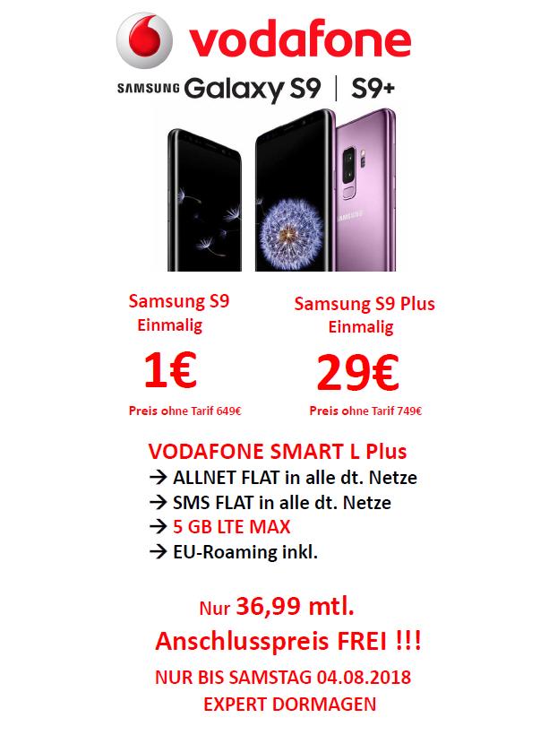 [Expert Dormagen] Samsung Galaxy S9 oder S9+ mit Vodafone Vertrag