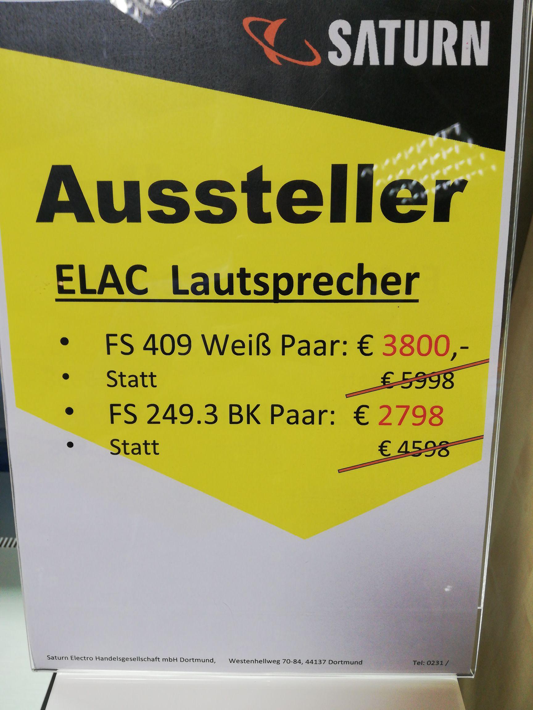 Elac FS 409 lokal Saturn Dortmund city