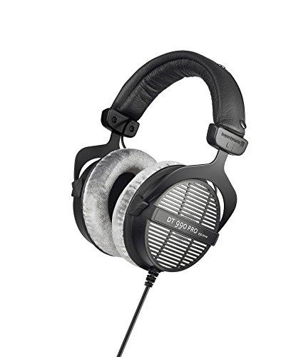 beyerdynamic DT 990 PRO Over-Ear-Studiokopfhörer in schwarz. Offene Bauweise, kabelgebunden 250 Ohm WHD