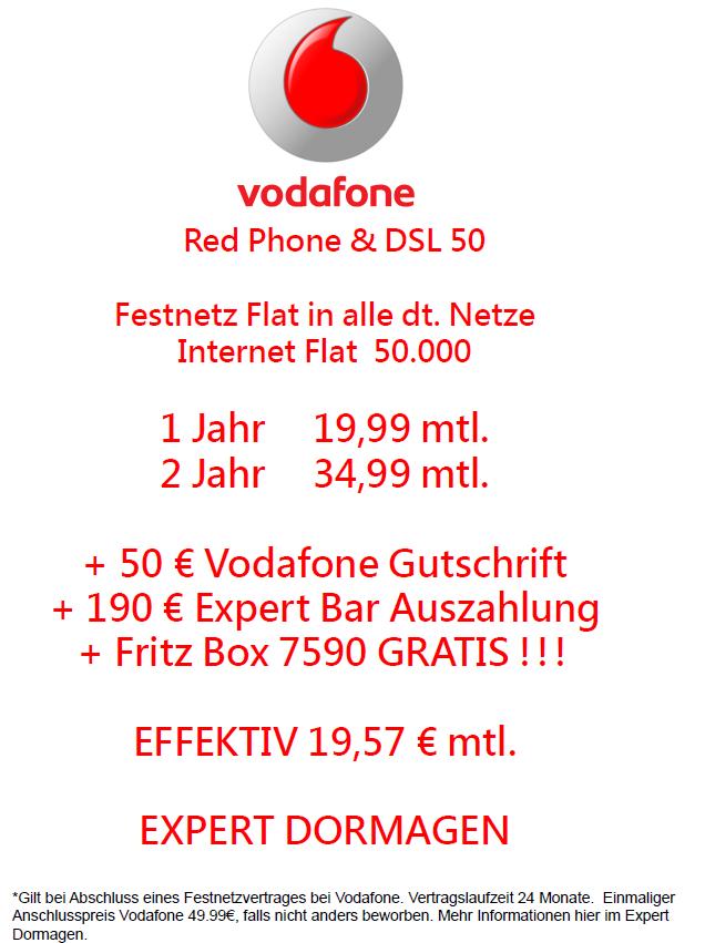 [Expert Dormagen] Vodafone VDSL 50 mit Fritzbox 7590 und Bargeld
