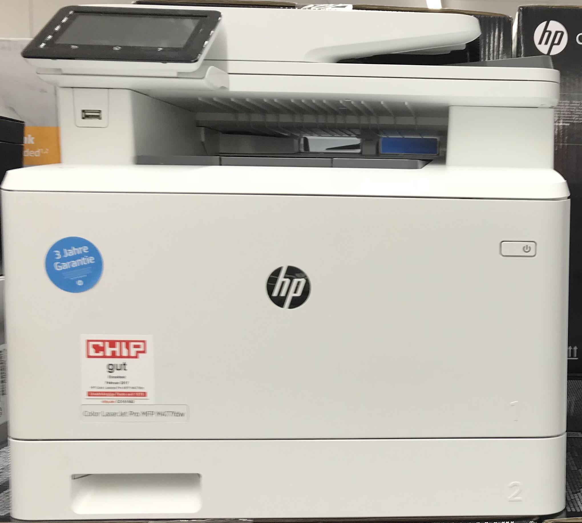 HP Color LaserJet Pro MFP 477fdw 4-in-1 Farblaser Multifunktionsdrucker [Media Markt Köln City eBay über App]