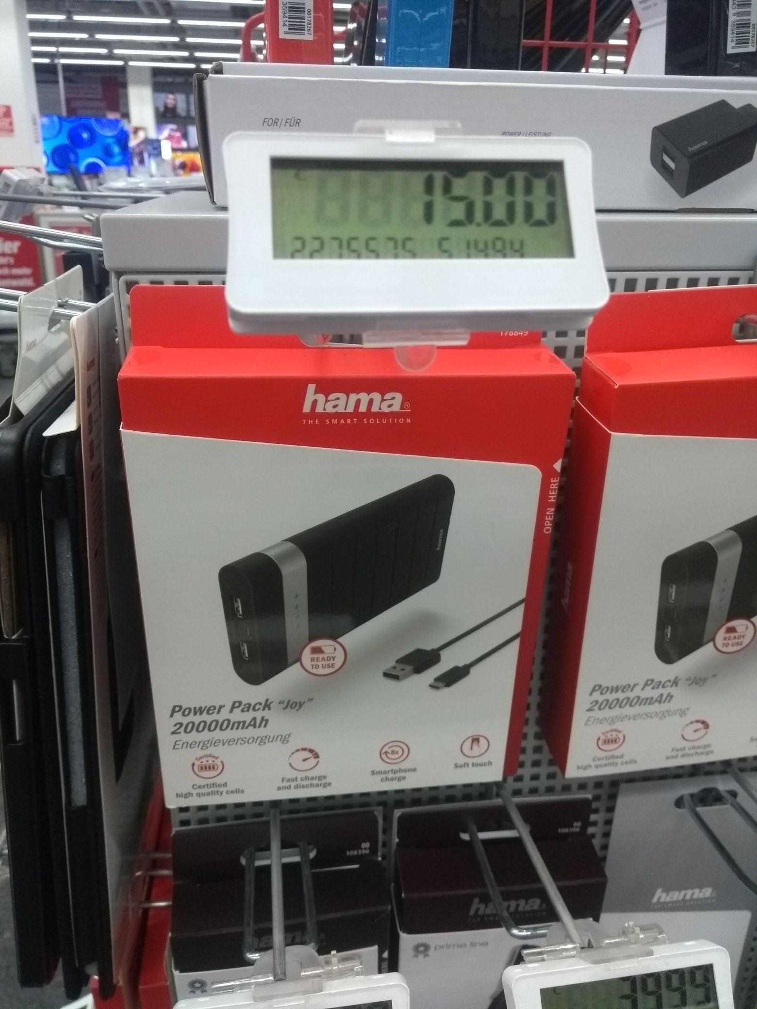 [Lokal Media Markt Märkische Spitze] Hama Powerpack Joy 20000mAh Powerbank