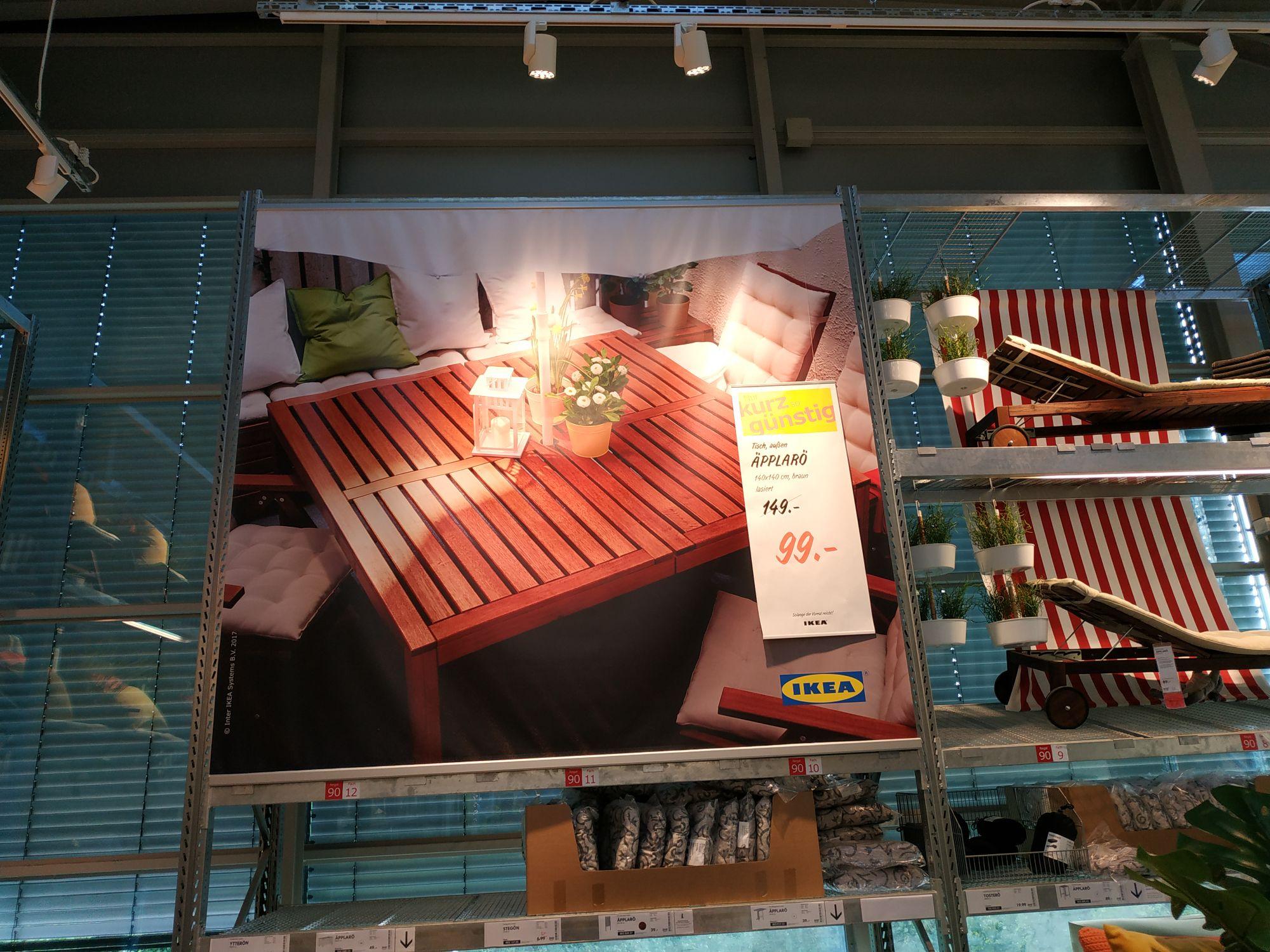 Ikea Brunnthal Tisch 140 x 140 Äpplarö