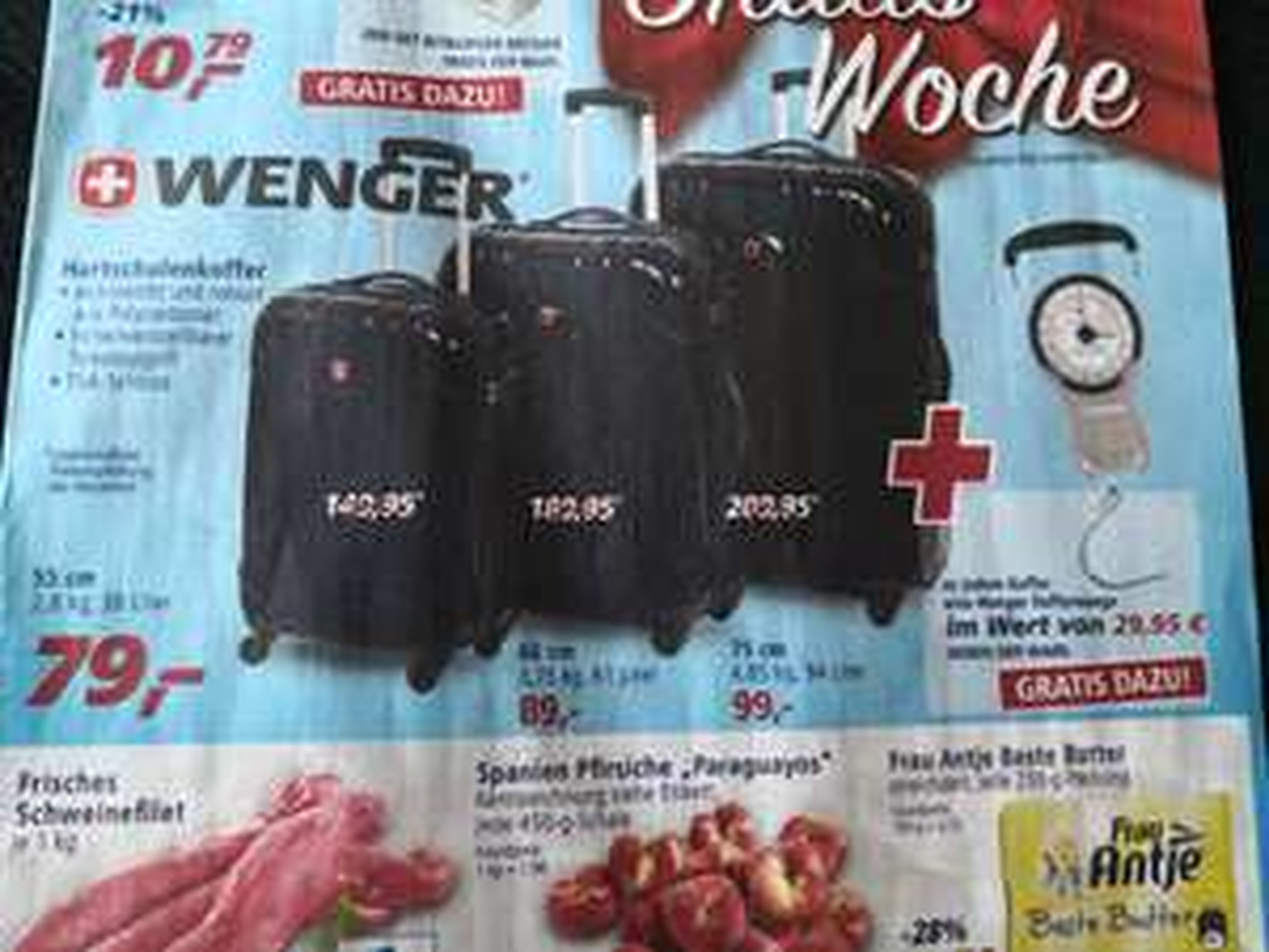 Wenger Swissgear By Wenger Evo Lite 4-Rollen Kabinen-Trolley 55 Cm W7203 22 21 Schwarz inkl. Wenger Kofferwaage mit Maßband 50006306