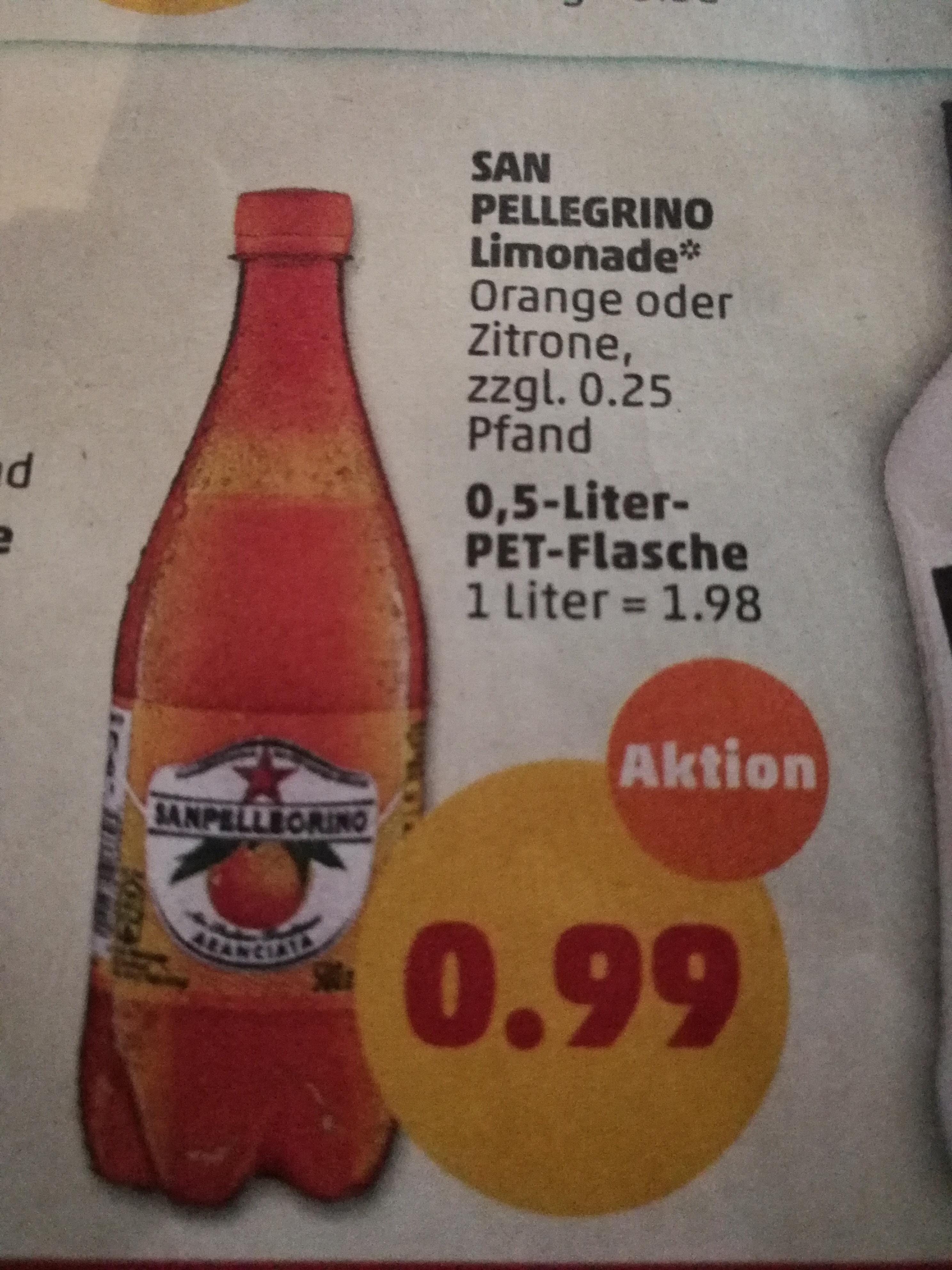 [ PENNY bundesweit 06.08 - 11.08 ] 2x San Pellegrino Limonaden 0,5l für effektiv 0,99€ (Angebot + Scondoo) - entspricht 0,50€ pro 0,5l Flasche