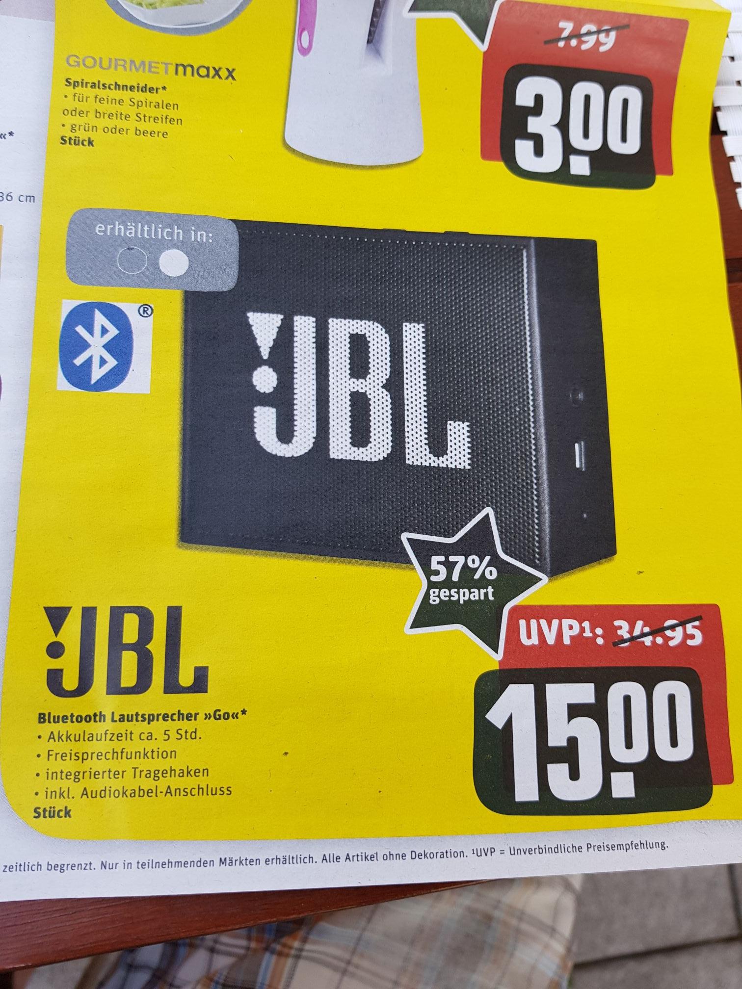 JBL Bluetooth Lautsprecher Go bei REWE Center