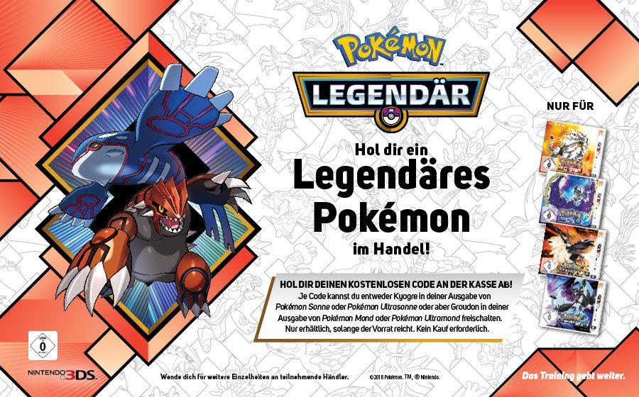 Kostenlos das Legendäre PokémonKyogreoderGroudon