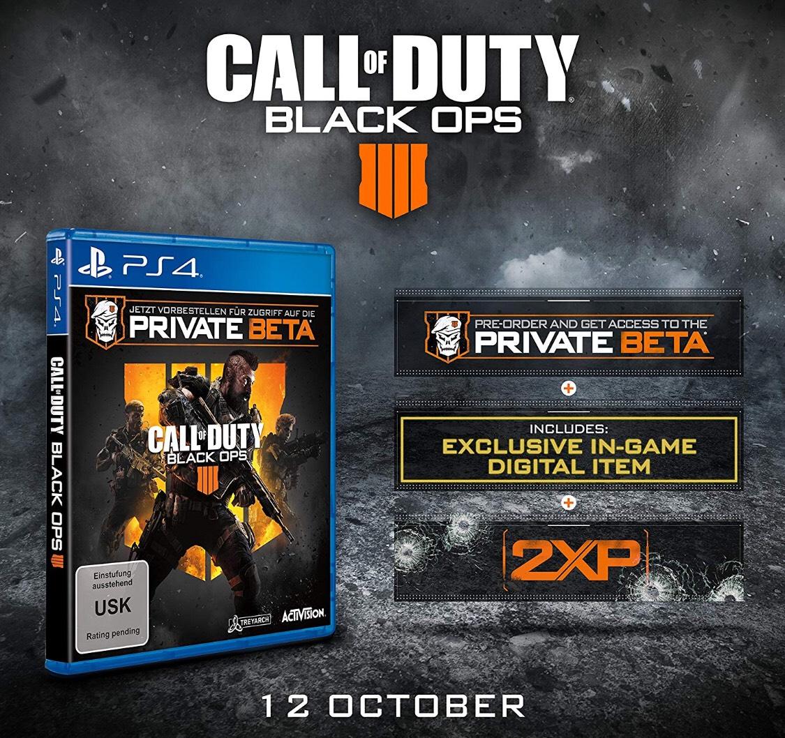 Kostenlose [Private BETA] Black OPS 4 BO4 für die PlayStation 4