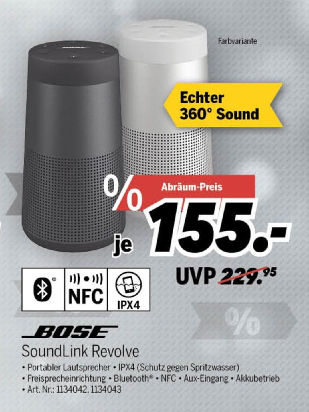BOSE Soundlink Revolve im MediMax Rostock für 155€